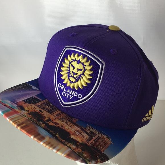 brand new 6d03a 11f06 Adidas Orlando City Soccer Hat SnapBack MLS